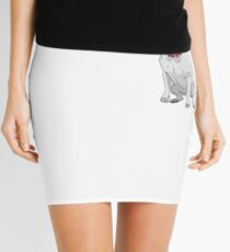 white Bull Terrier Mini Skirt