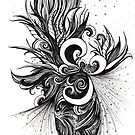 Restless, Ink Drawing by Danielle Scott