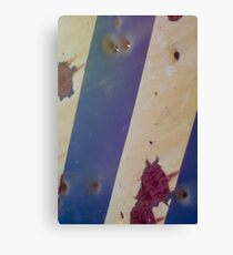 Rusty bullet riddled sign  Canvas Print