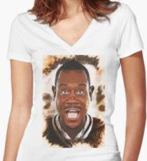 Martin Lawrence - Caricature Women's Fitted V-Neck T-Shirt