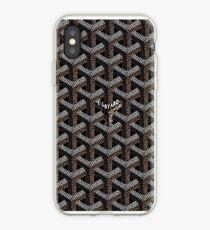 black goyard iPhone Case