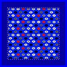 Lips on Ultramarine Pattern by XOOXOO