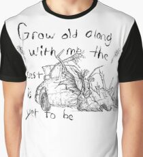 Wrecked car illustration with quote, destroyed dystopian van Graphic T-Shirt