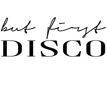 But first disco by PCollection