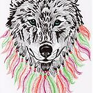 « Loup hippie » par Angel-Rainbow