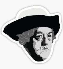 Actress Dame Margaret Rutherford Miss Marple Sticker