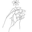 Umrissene Hand von Sophia Sid