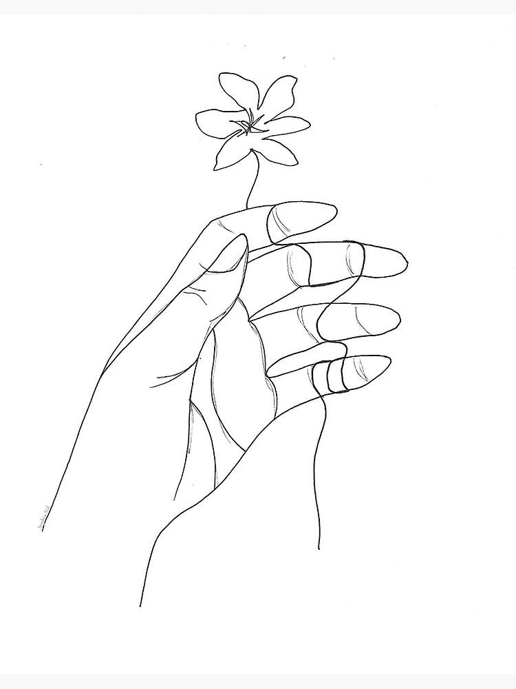 Umrissene Hand von SophiaSidera