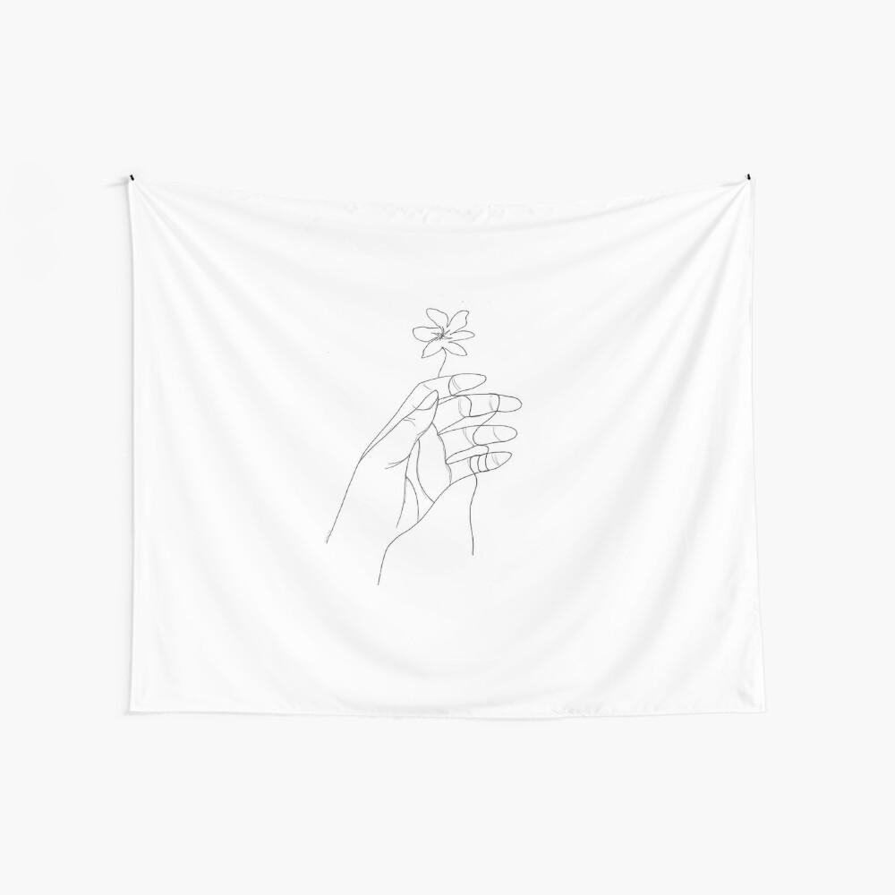 Umrissene Hand Wandbehang