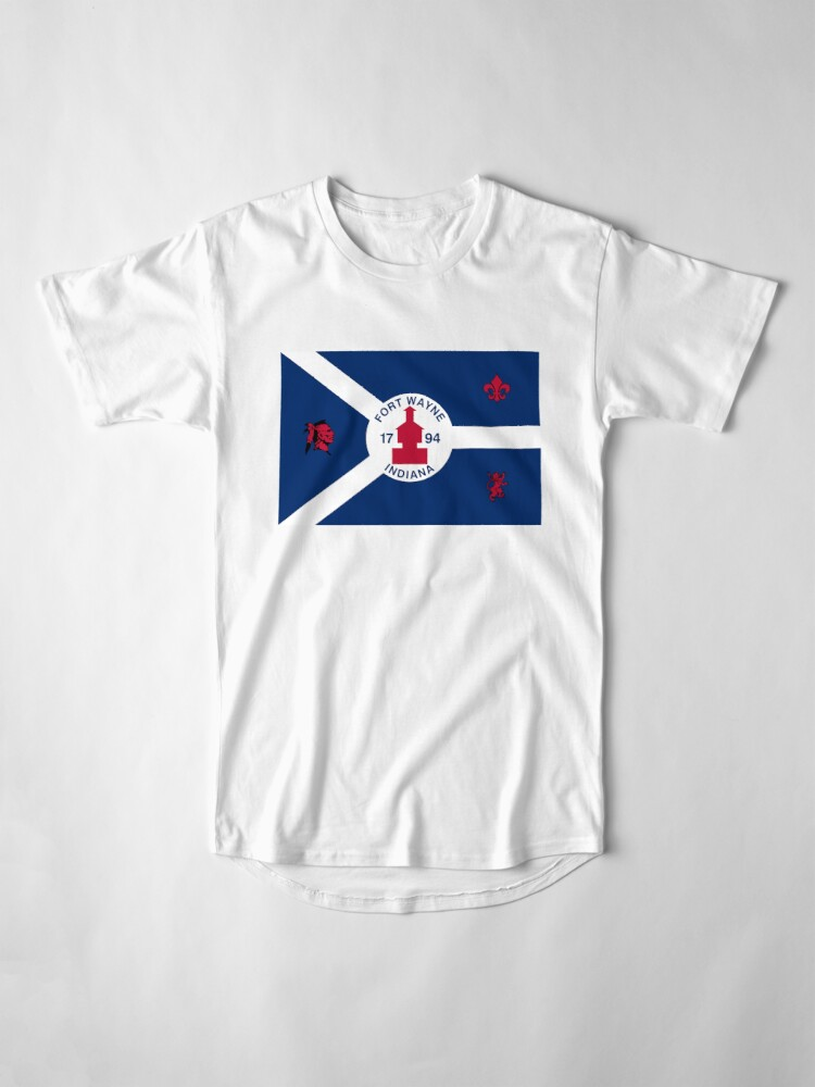 Alternate view of Flag of Fort Wayne, Indiana Long T-Shirt