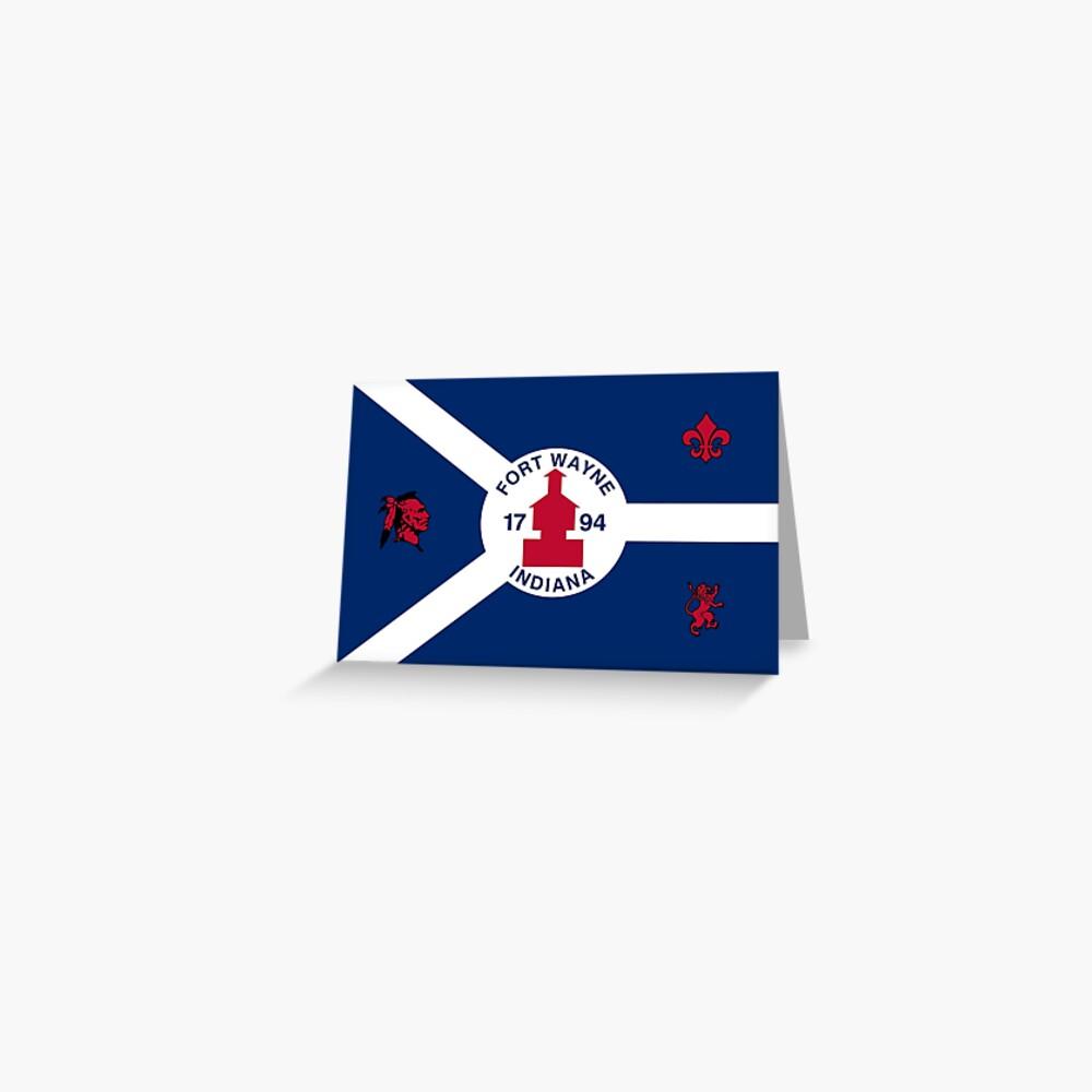 Flag of Fort Wayne, Indiana Greeting Card
