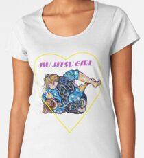 Jiu Jitsu Girl - BJJ Art - Dreamscape Guard - By Kim Dean Women's Premium T-Shirt