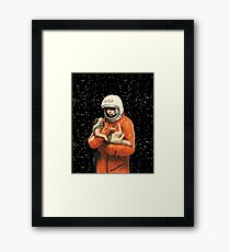 LAIKA / GAGARIN - SOVIET SPACE HEROES Framed Print