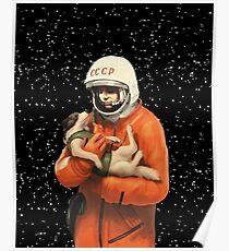 LAIKA / GAGARIN - SOWJETISCHE RAUMHELDEN Poster