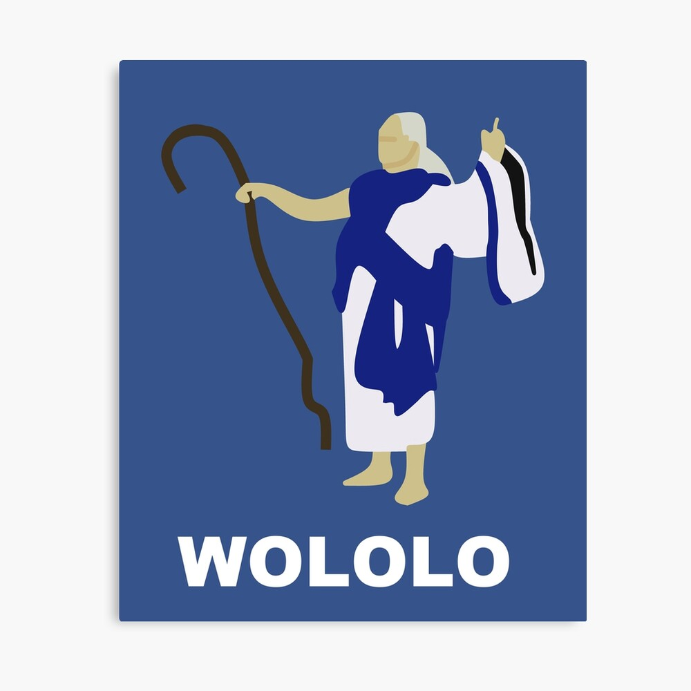 Wololo (blau) Leinwanddruck