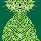 « Chat en entrelacs - vert » par Hippopottermiss