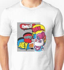 Funny Multicolored Comic Cartoon Unicorn Pop Art Unisex T-Shirt