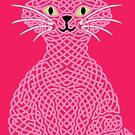 « Chat en entrelacs - rose » par Hippopottermiss