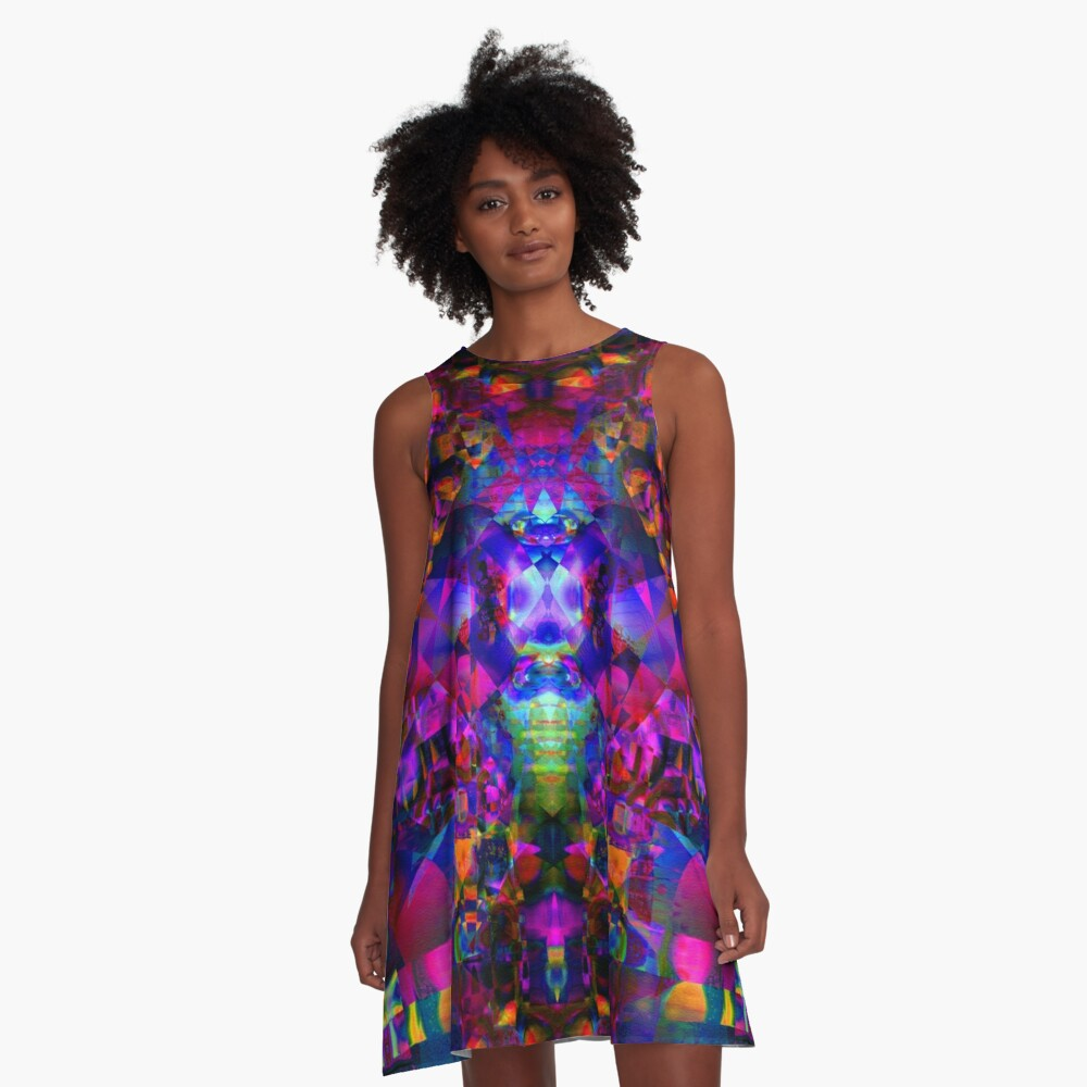 Everybody Feel The Music A-Line Dress Front
