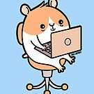 Laptop Hammie - hamster with laptop computer  by zoel