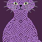 « Chat noueux - violet » par Hippopottermiss