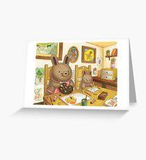 Artsy Bun Buns Greeting Card