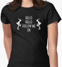 Abe's Hello (White Design) Women's Fitted T-Shirt