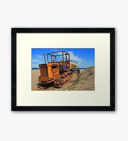 On Weybourne Beach Framed Print