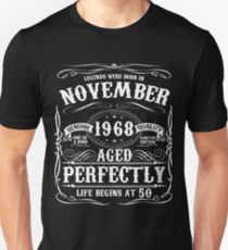 Funny November 1968 50th Birthday Party Apparel Unisex T-Shirt