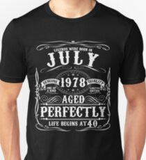 Funny July 1978 40th Birthday Party Apparel Slim Fit T-Shirt