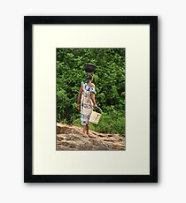 Water Woman Framed Print