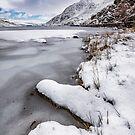 Snowfall at Ogwen Lake Snowdonia by Adrian Evans