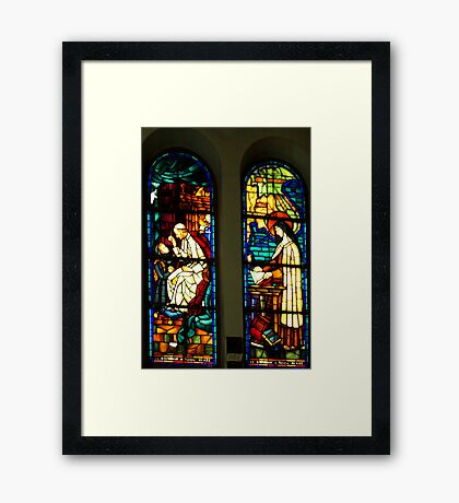 Windows of Notre Dame Cathedral, Saigon, Vietnam Framed Print