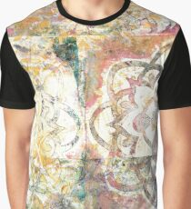 Monoprint Rose Mandala Graphic T-Shirt
