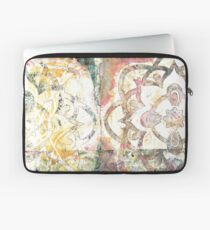 Monoprint Rose Mandala Laptop Sleeve