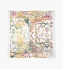 Monoprint Rose Mandala Scarf
