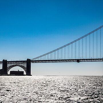 Golden Gate Bridge Silhouette by quackersnaps