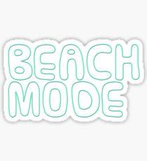Beach Mode Funny Summer Design Sticker