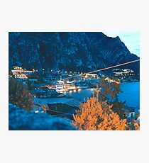 Limone, Lake Garda, Italy at night  Photographic Print