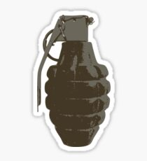 Pineapple Hand Grenade Sticker