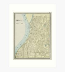 Memphis Tennessee Map Wall Art | Redbubble