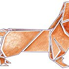 Origami Dachshund: Red by Danelle Malan