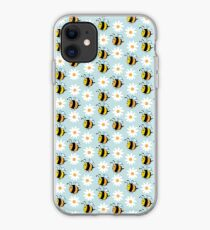 Chubby Bees With Daisies  iPhone Case