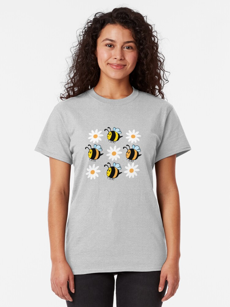 Alternate view of Chubby Bees With Daisies  Classic T-Shirt