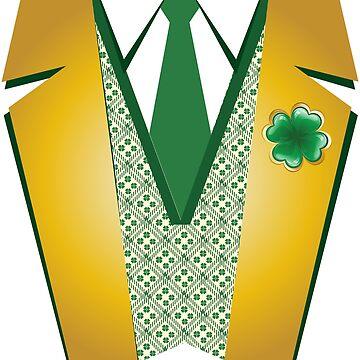 St Patrick's Day Shirt | Dressy Leprechaun Suit Tee  by OhBoyLoveIt