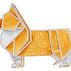 Origami Corgi by Danelle Malan