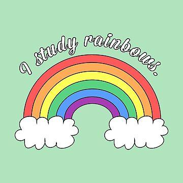 I Study Rainbows - pale green by kellicoyne