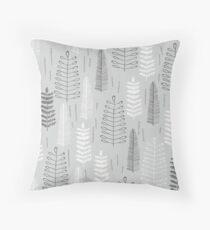 Ferns on a Rainy Day Throw Pillow