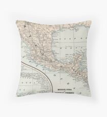 Vintage Map of Mexico (1893) Floor Pillow
