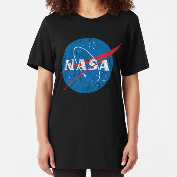 Womens Distressed NASA Logo T-Shirt Space Agency